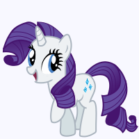 Meet the Ponies Icon : Rarity by Kdogfour