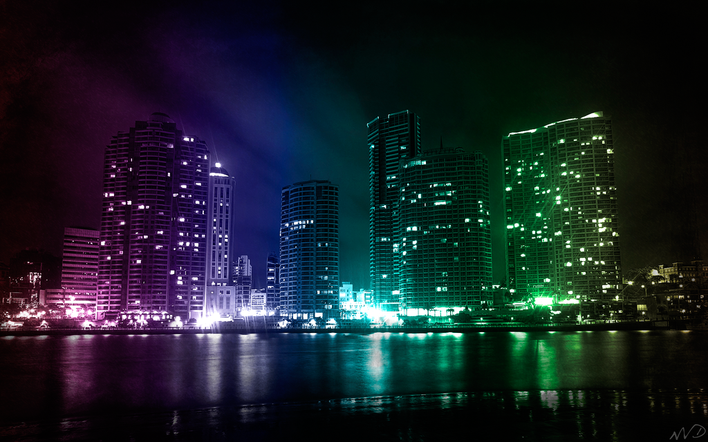 city lights background. City Lights - Wallpaper by