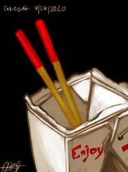 Paint_Tool_SAI_ Fried Rice Takeout Study