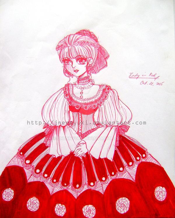 Lady in Red by Jnennyuki