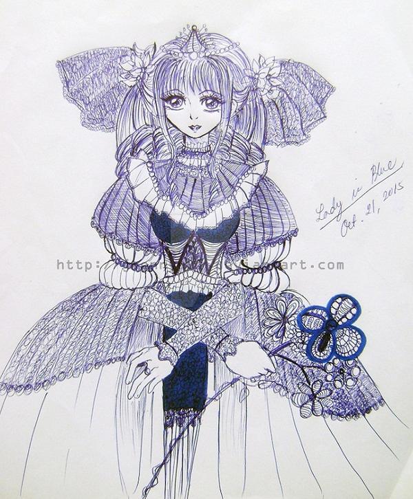 Lady in Blue by Jnennyuki