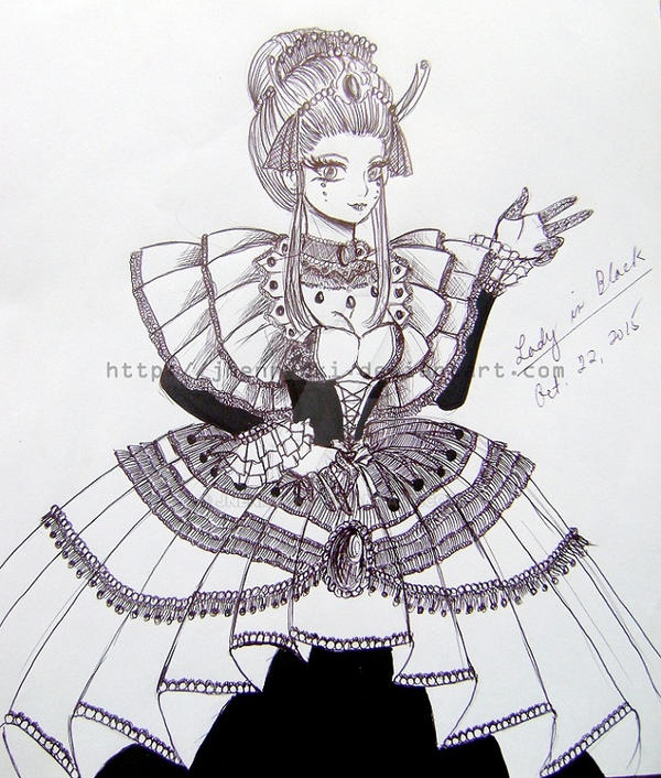 Lady in Black  by Jnennyuki