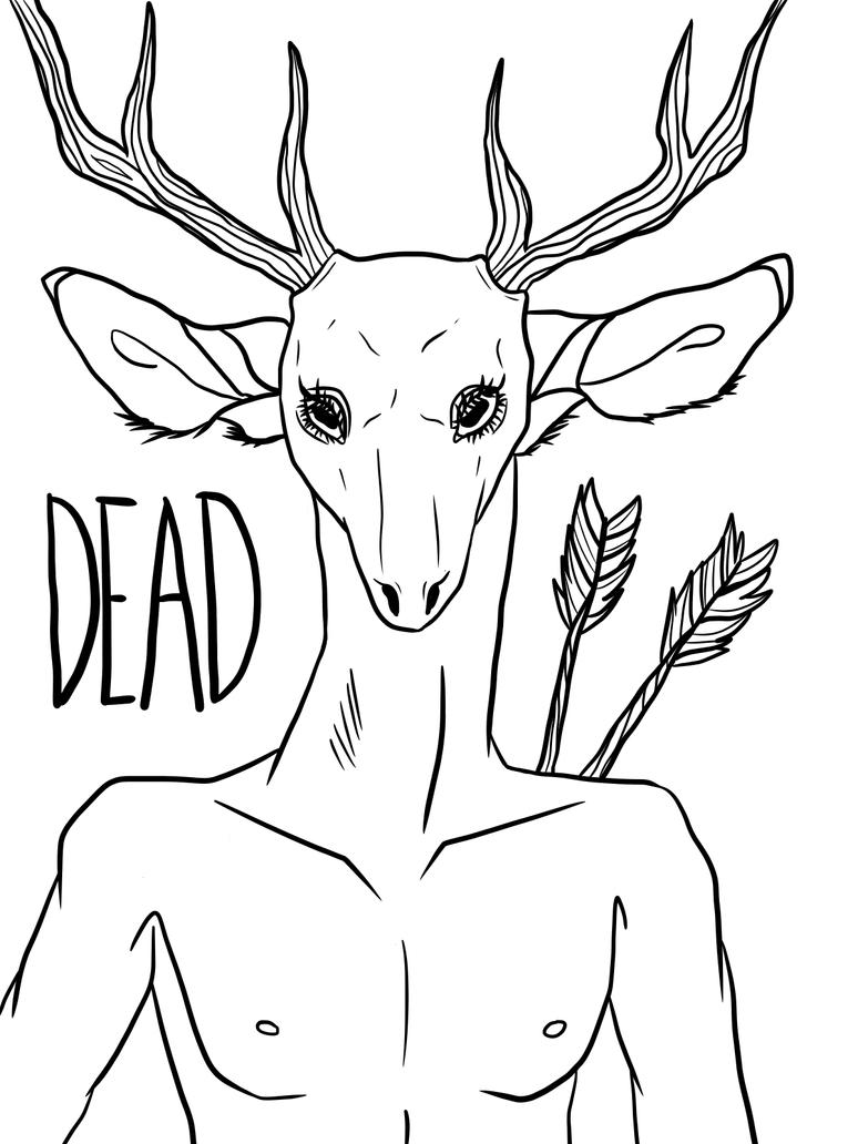 Dead deer by ShizukanaOkami