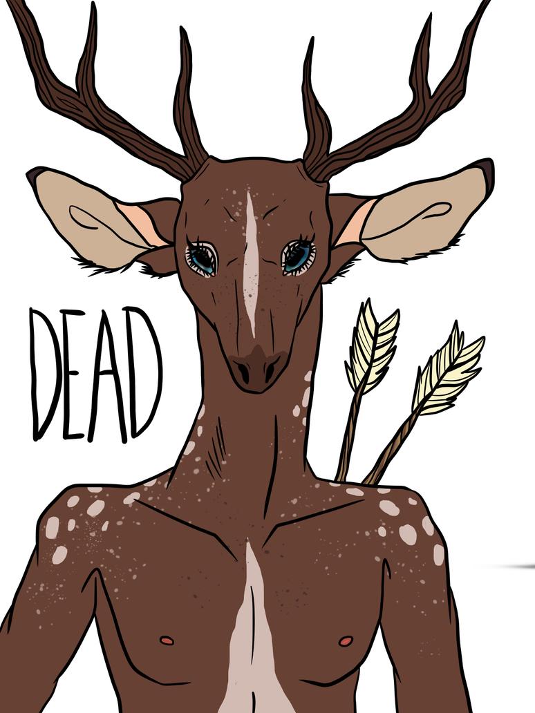 Dead deer coloured by ShizukanaOkami