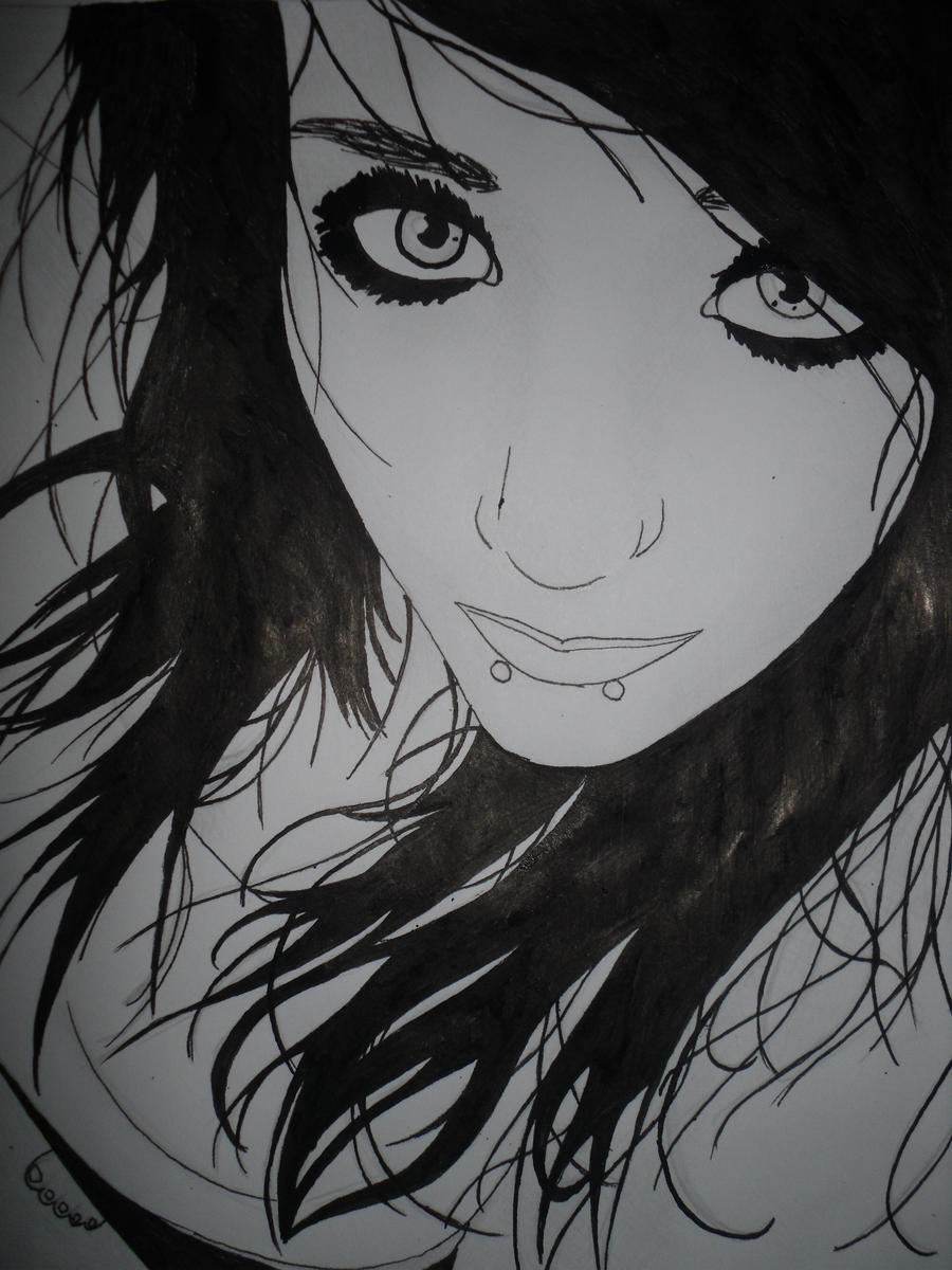 Beautiful emo girl drawings