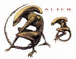 Alien Runner sketch (color) by LucienFreiheit