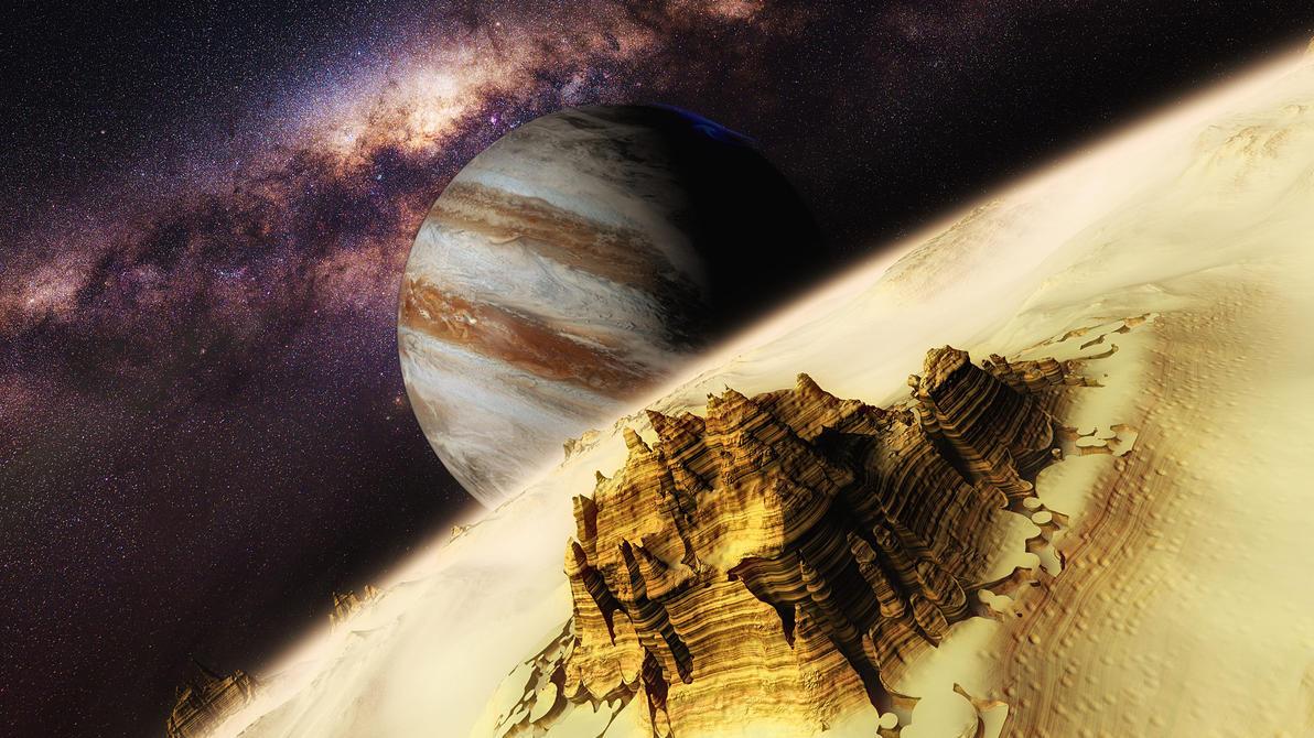 Jupiter satellite by SvyatLee