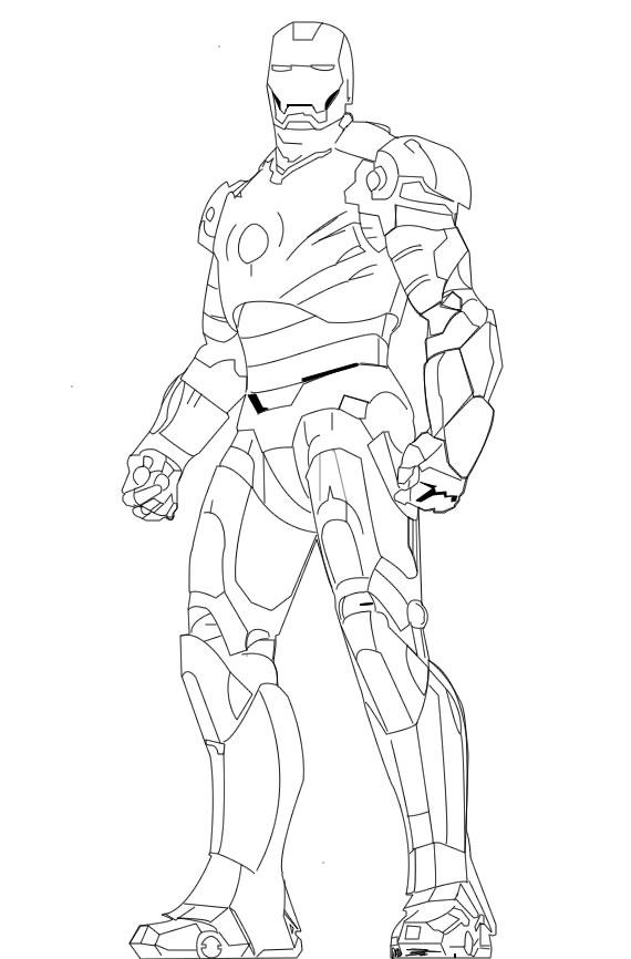 Line Art Man : Iron man line art by saify on deviantart