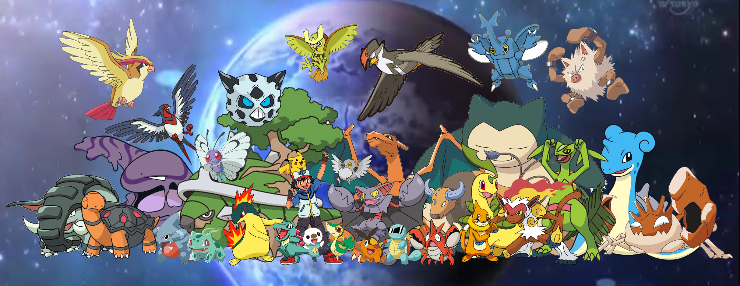Ash and Pokemon All by PkLucario on DeviantArt