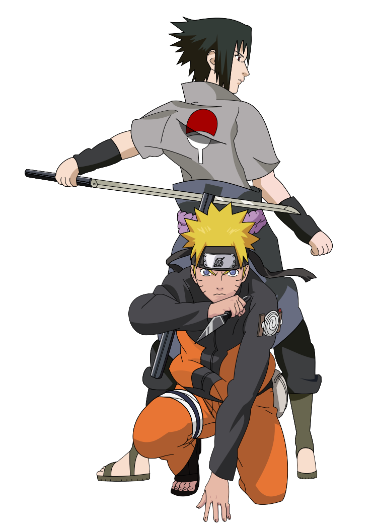 Naruto and Sasuke ~Shippuden~ by PkLucario
