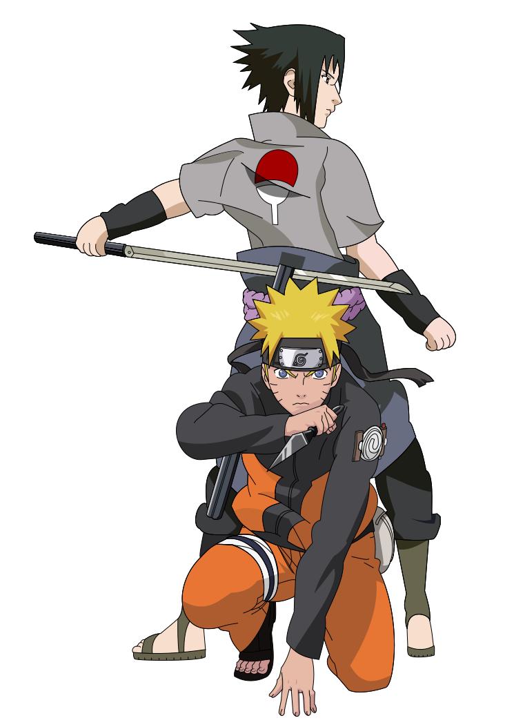 Naruto and Sasuke ~Shippuden~ by PkLucario