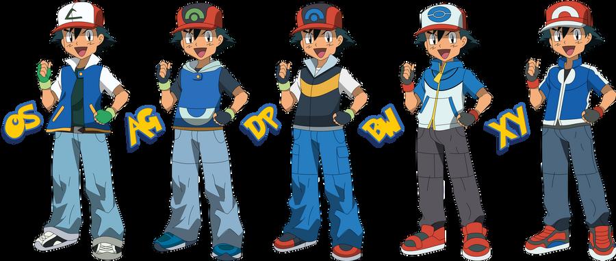 Pokemon Trainer Ash By Pklucario On Deviantart