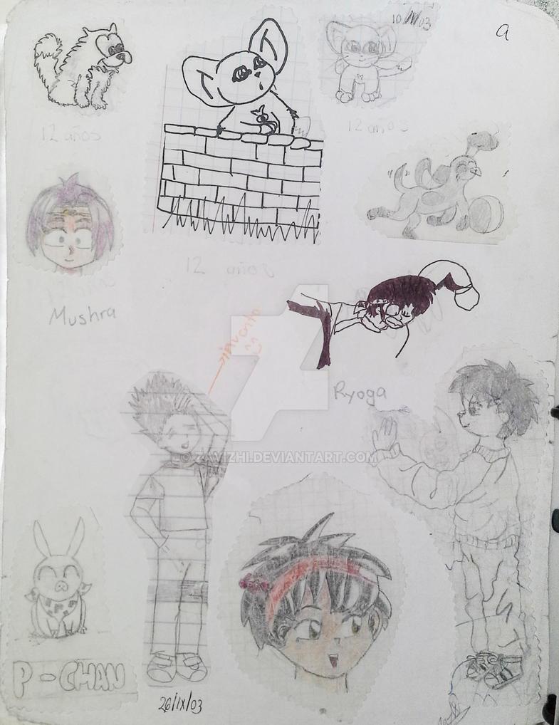 Cartoon and anime sketches by zayizhi