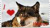 I Love Wolves Stamp by DarkArcadian