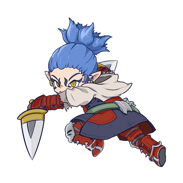 ff14 ninja avatar jikku desu by jikkudon on deviantart