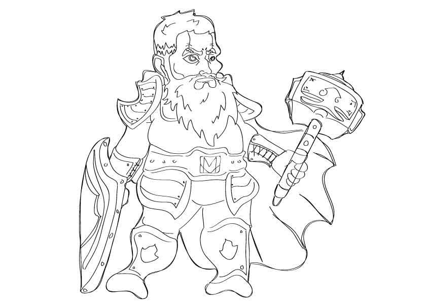 Sketch-dwarf by InktstrijdeR