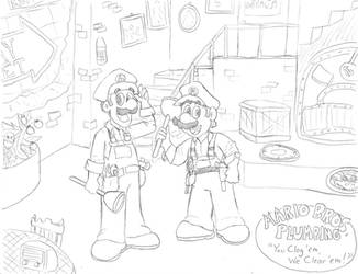 Mario Bros. Plumbing by Annie13