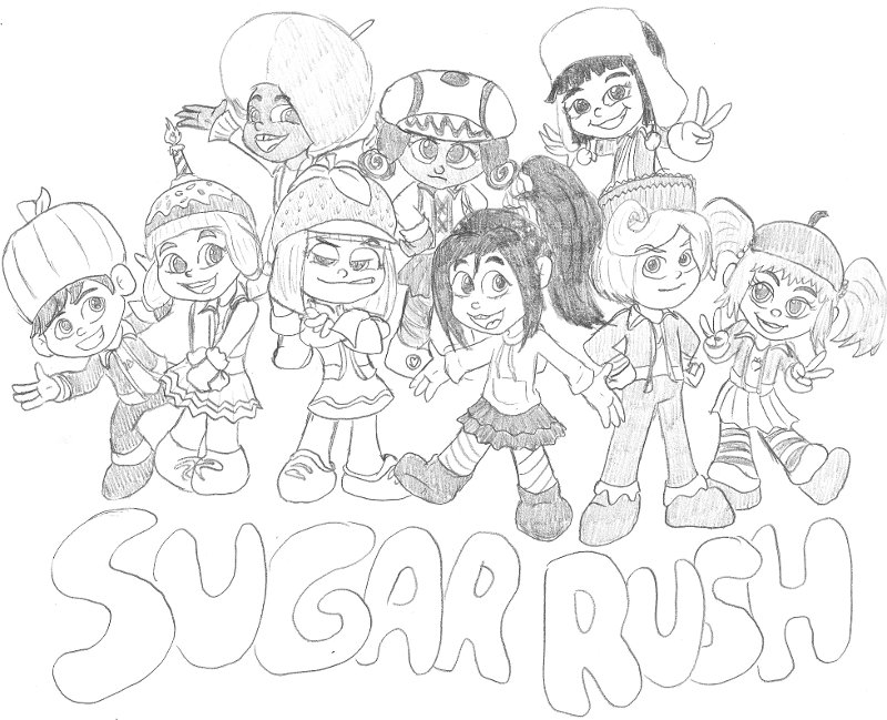 sugar rush coloring pages - photo#29