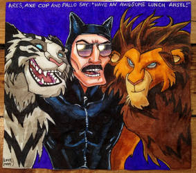 LTB - Ares and Pallo with Axe Cop by dacostpa