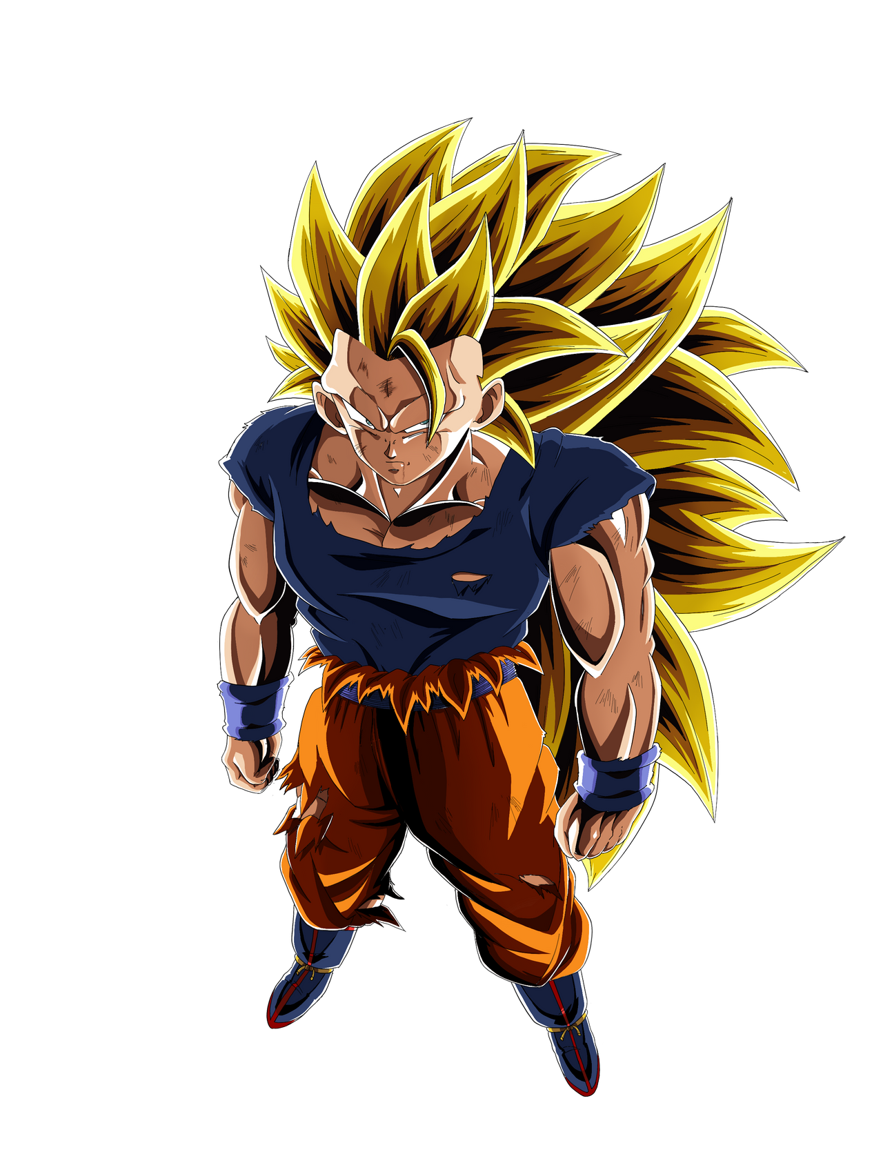 Lr Super Saiyan 3 Goku Render By Dokkandeity On Deviantart