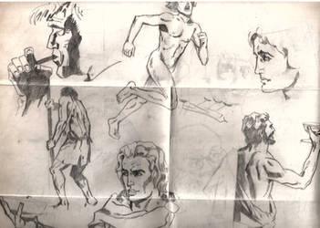 Ancient Men Poses