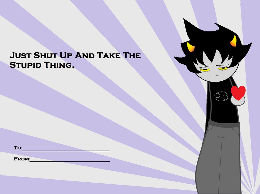 A Karkat Valentine by Aia-Aria