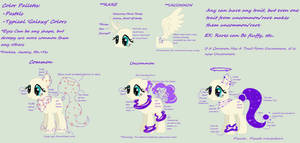 ||CLOSED SPECIES||Galaxy Fountain Ponies Ref Sheet