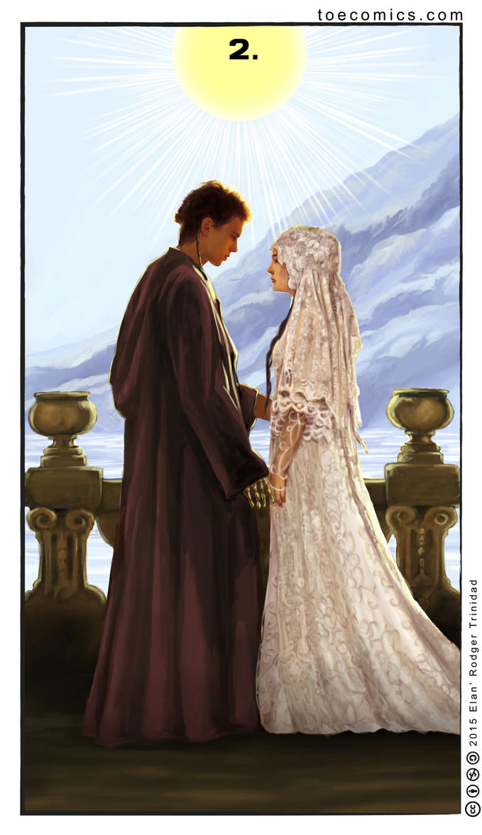 Star Wars Tarot: The Two of Cups by theory-of-everything