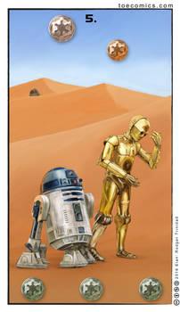 Star Wars Tarot: The Five of Credits