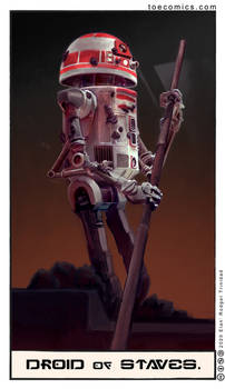 Star Wars Tarot: The Droid of Staves