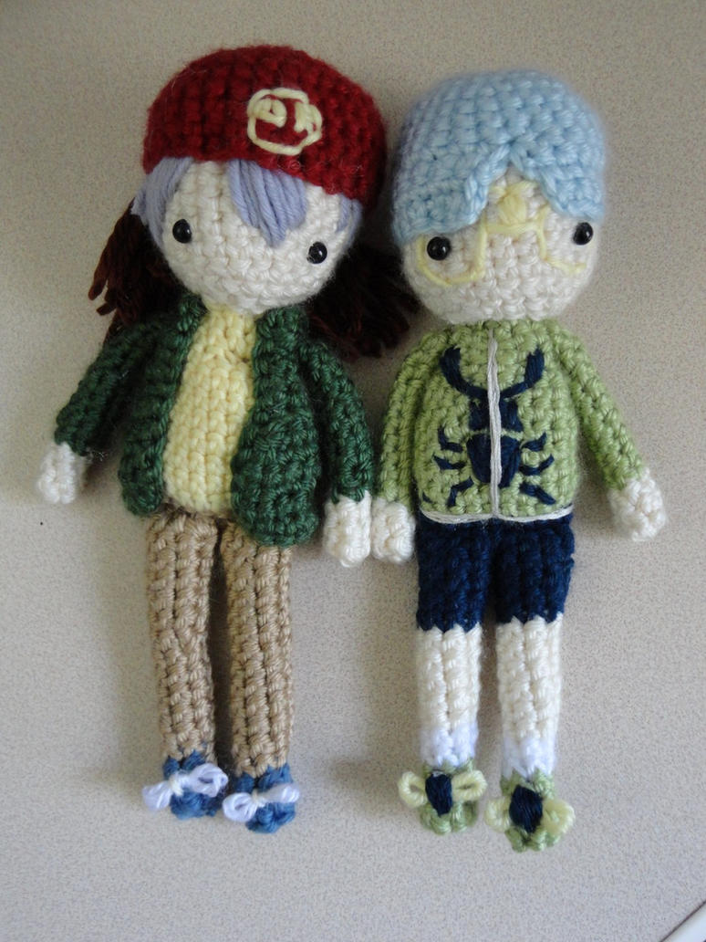 Rex and Weevil Amigurumi Dolls (Yu-gi-oh) by Sylemn on ...