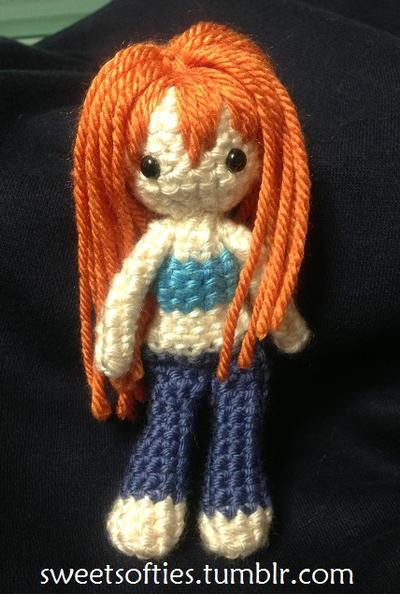 Amigurumi One Piece Doll : One Piece - CHIBI Nami - Crochet/Amigurumi Doll by Sylemn ...