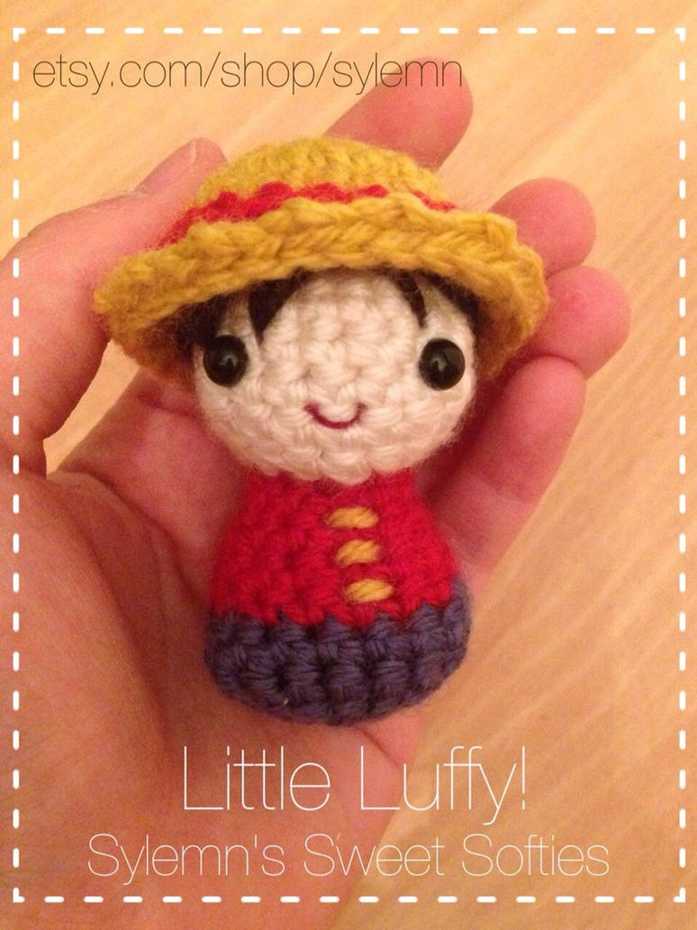Amigurumi One Piece Patrones : Tiny Chibi Luffy Amigurumi Crochet Doll ONE PIECE by ...