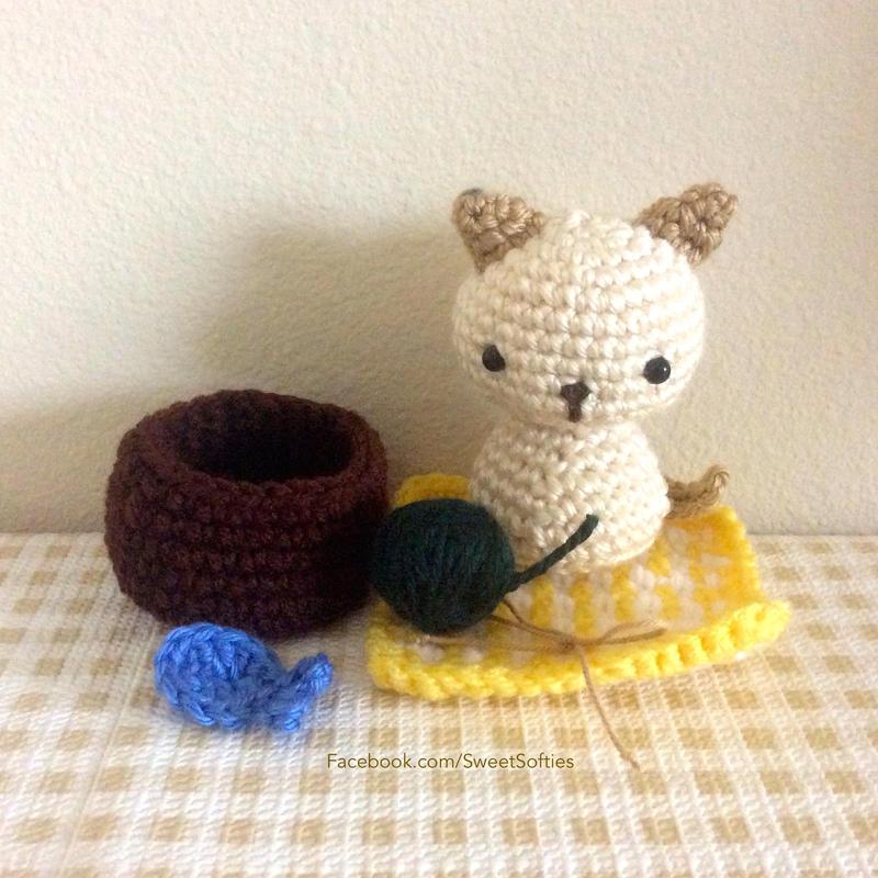 Tiny kitty cat amigurumi pattern | Amigurumi modelleri, Tığ ... | 800x800