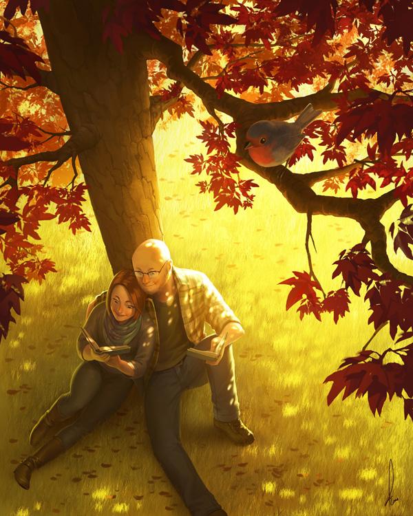 Commission - Autumn Love by Fernosaur