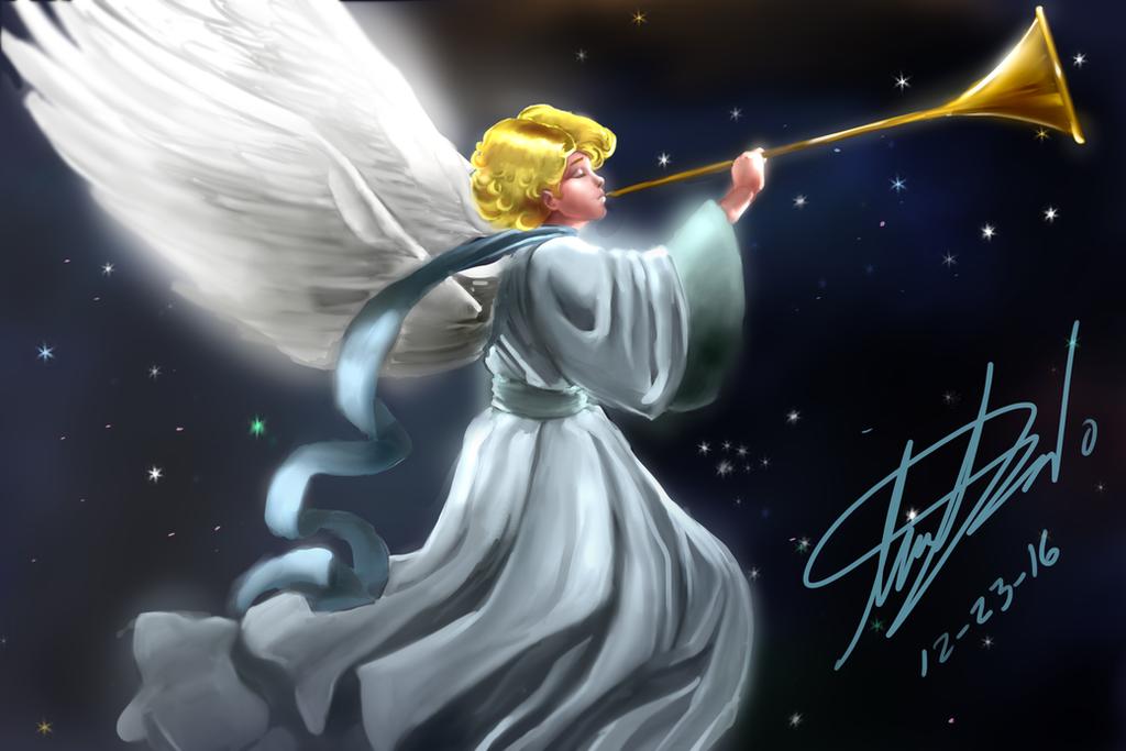 Christmas Angel by IzharDraws