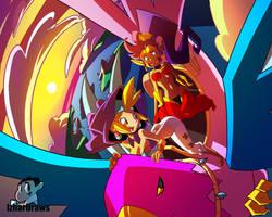 Shantae: Half-Genie Hero WRENCH RIDE by IzharDraws