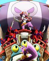 Shantae: Half-Genie Hero RISKY BOOTS ATTACK by IzharDraws