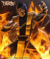 Mortal Kombat - Scorpion MK4 by IzharDraws