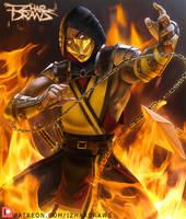 Mortal Kombat - Scorpion MK11 by IzharDraws