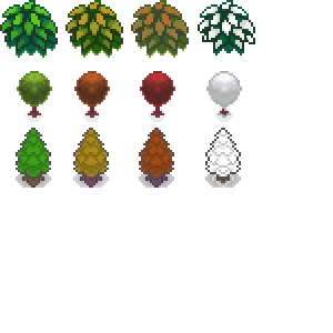 Seasonal Sprite Trees meh by DancingRoxas