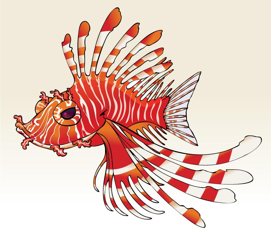 lionfish cartoon Gallery