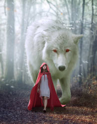 Girl And Wolf in Forest - Epic