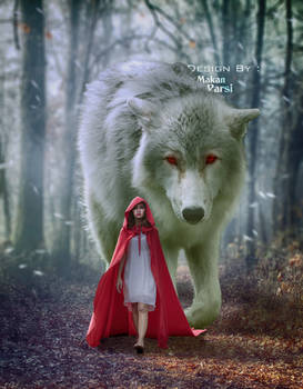 Girl And Wolf in Forest - Epic _ HDR