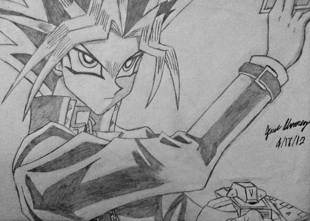 Atem Dueling by Naru252