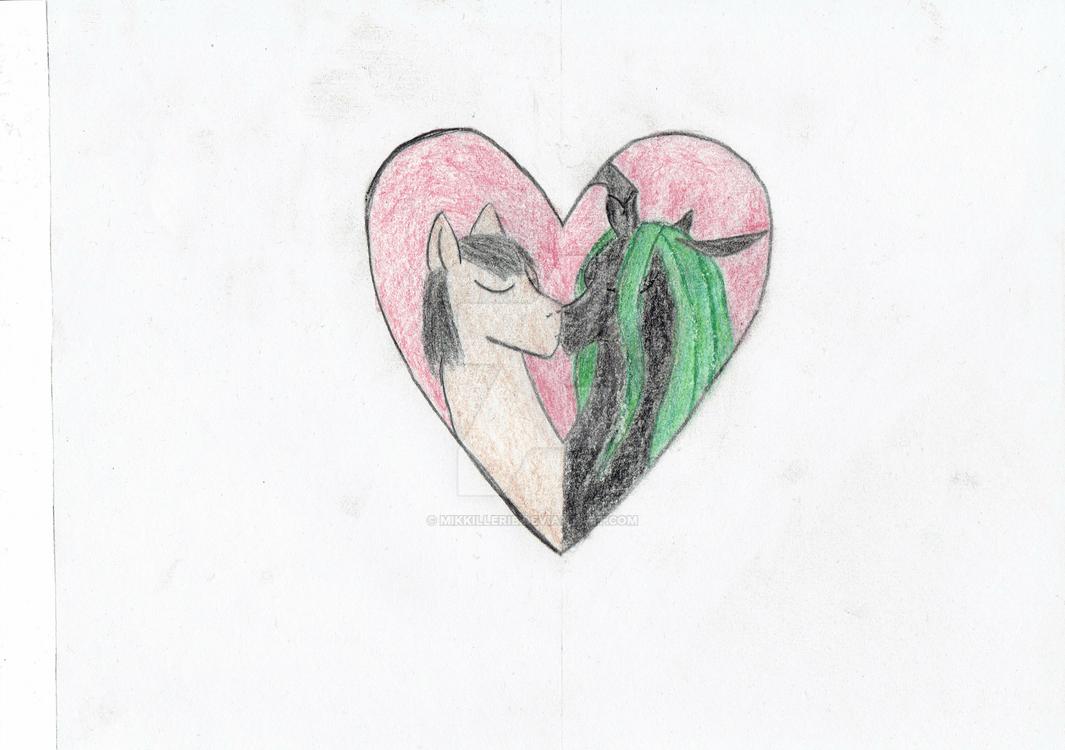 Scribble and Chryssie Valentines Day by Mikkillerib