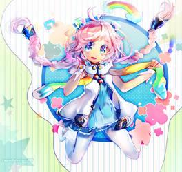 Rainbow Rana by Lapia
