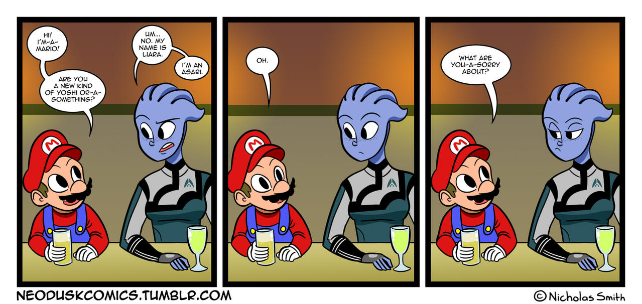 Fandumb #26: Meanwhile, at the Gamers Bar by Neodusk