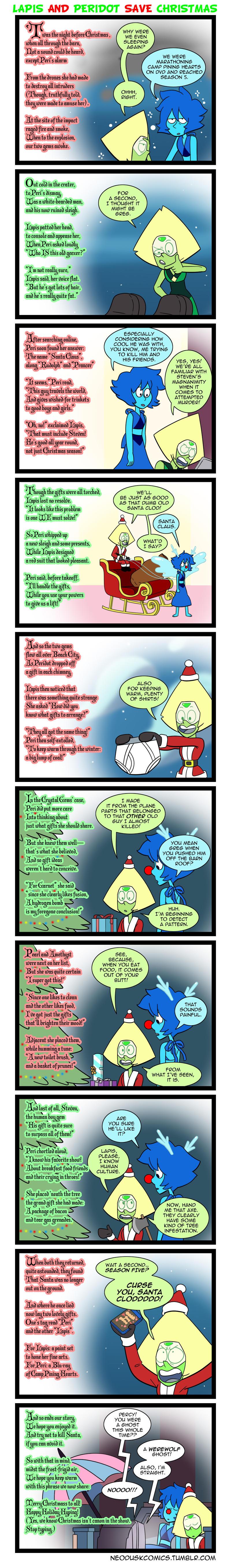 Lapis and Peridot Save Christmas by Neodusk