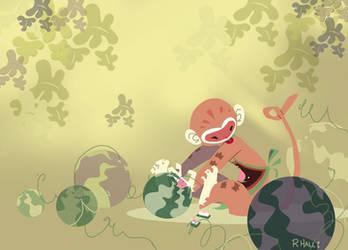 Little Monkey by indigofox